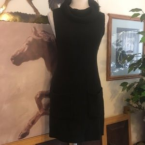 Vince Camuto Black cowl neck sweater tunic dress